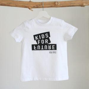 Kinder T-Shirt Kids for Future Weiß