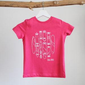 Kinder T-Shirt Pink Skateboards