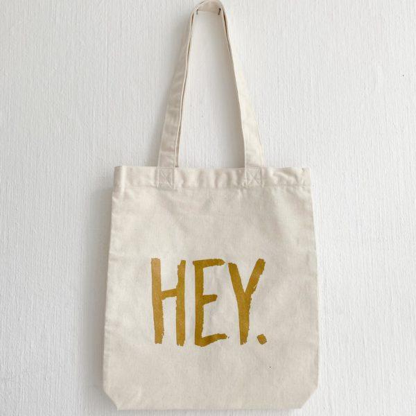 Hey. Einkaufsbeutel Gold