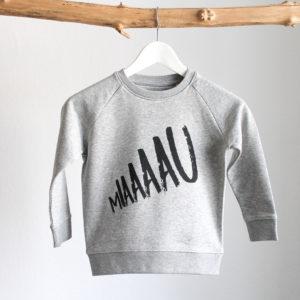 MIAAAAU Sweatshirt Pullover Grau