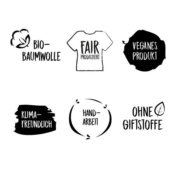 Biobaumwolle, Fair produziert, Vegan, ohne Giftstoffe, Handarbeit, klimafreundlich