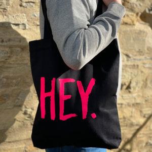 HEY Tasche Schwarz Pink