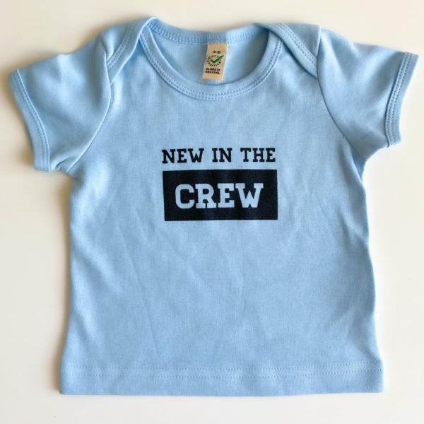 Babyshirt New in the Crew Hellblau