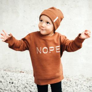 Sweatshirt Nope Karamell